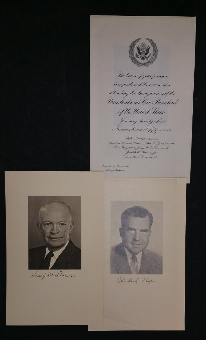1957 Eisenhower – Nixon Inauguration Committee Official - 6