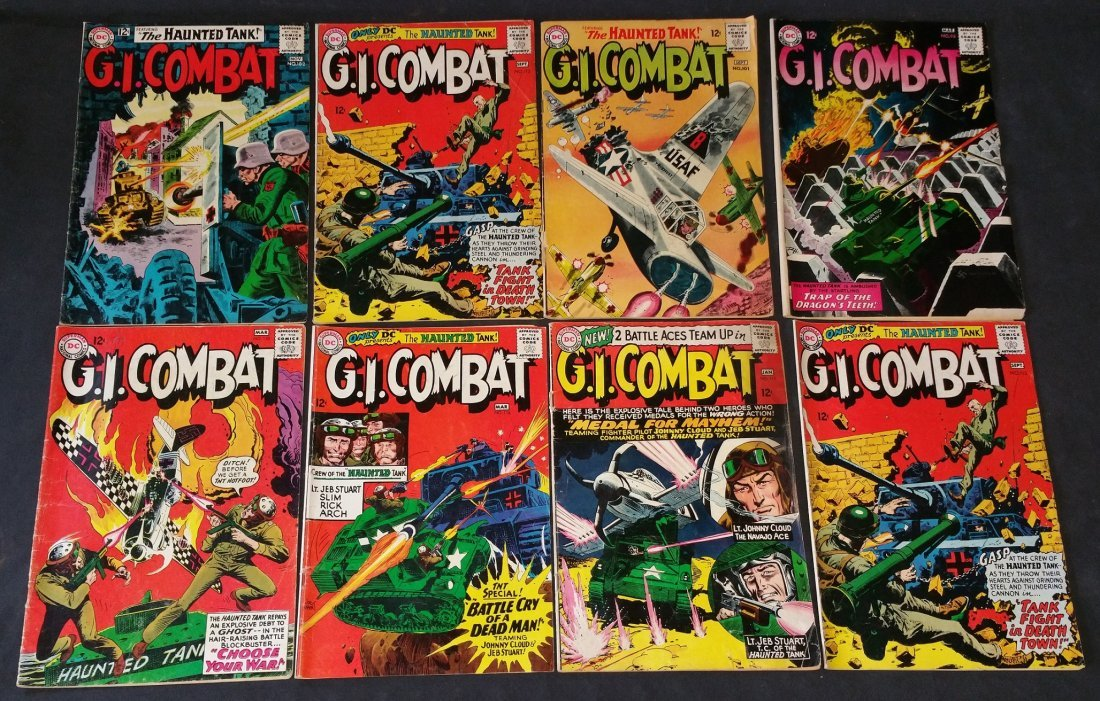 G.I. COMBAT feat. The Haunted Tank 12 cent 8 Piece Lot