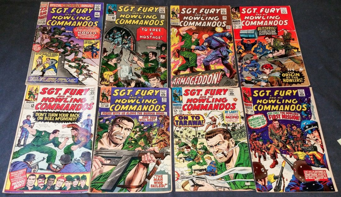 Marvel SGT. FURY 12 cent and 25 cent SGT. FURY KingSize