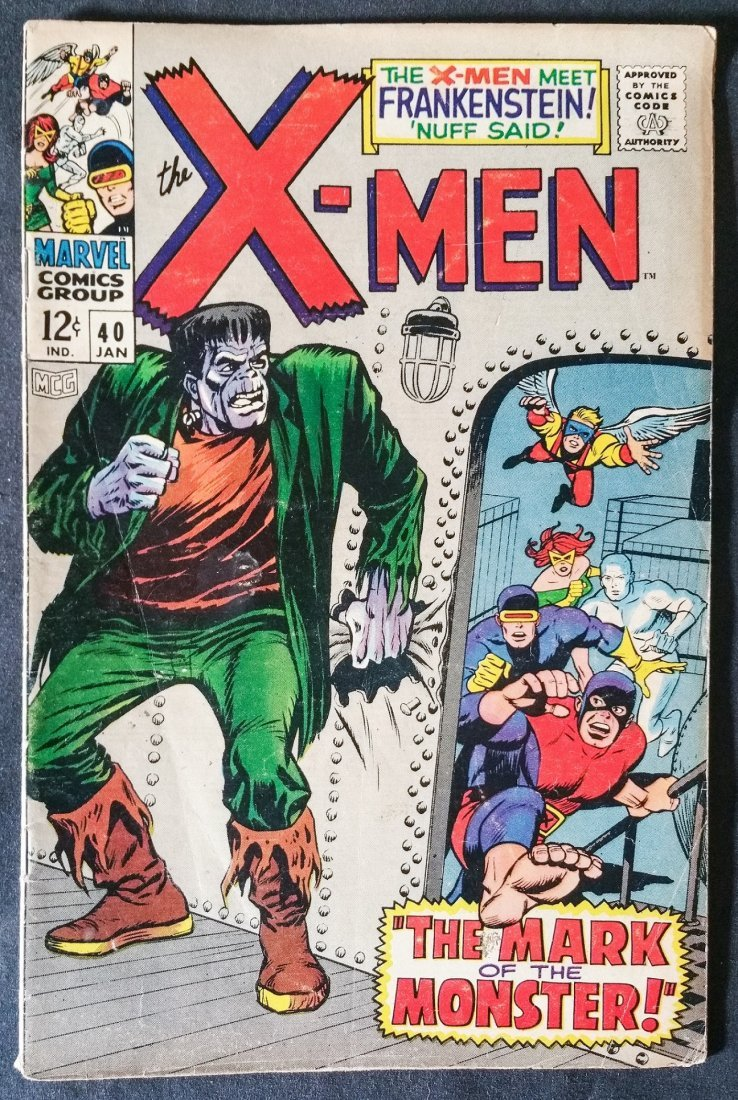 The X-MEN No.40 JAN 1968 Rated 5.5 to 6.0 ( VG+ to FN-)