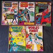 DC Comics 12cent Worlds Finest 5 Piece Lot