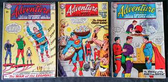 DC Adventure Comics 12 cents 3 Piece Lot