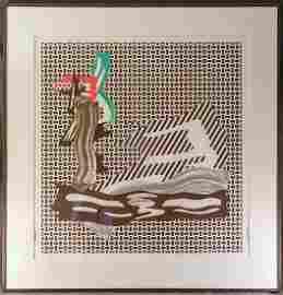 ROY LICHTENSTEIN (1923-1997) | �Brushstrokes on Canvas�