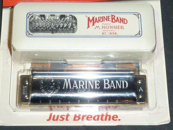 Marine Band Hohner Harmonica No.1896 A NIP
