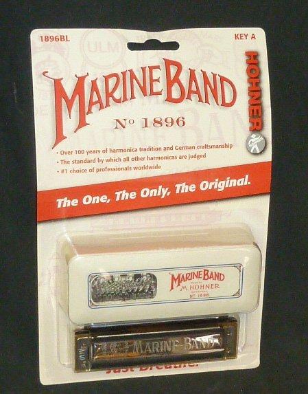 Marine Band Hohner Harmonica No.1896 A NIP - 2