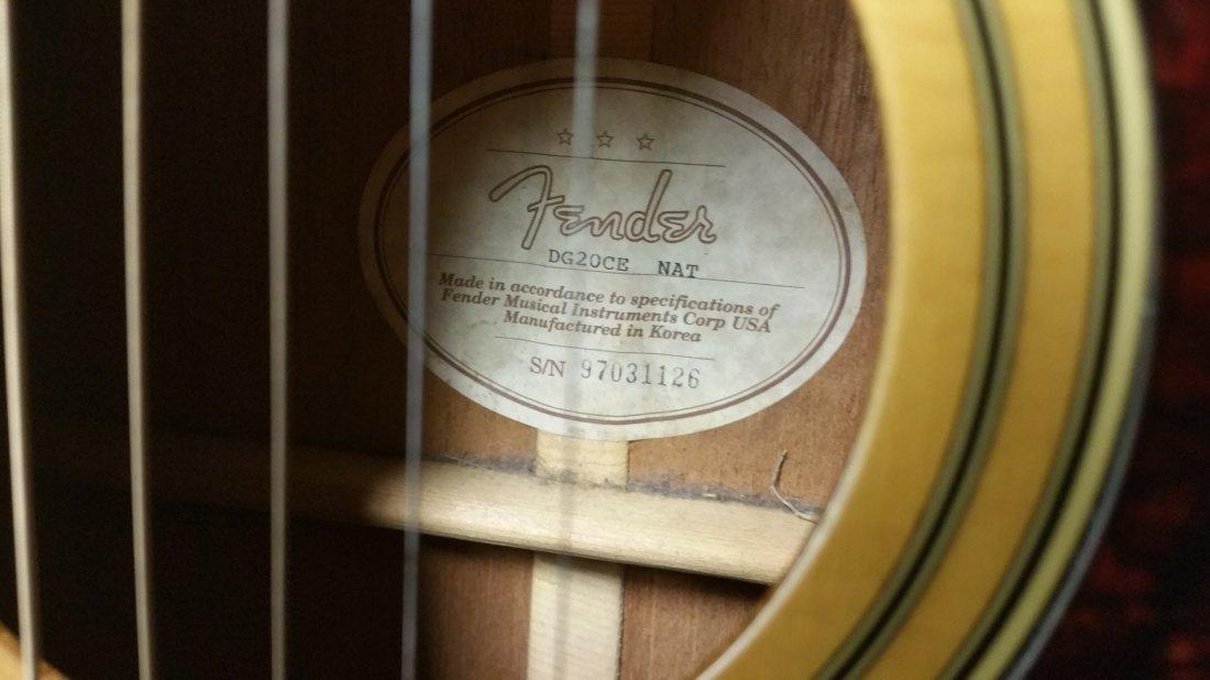 Fender DG20CE NAT Acoustic/Electric Guitar - 2