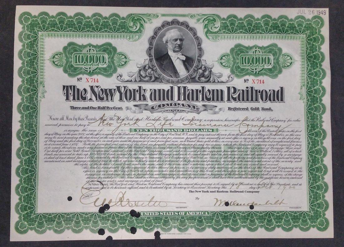 Bond Certificate Vanderbilt Railroad 1900
