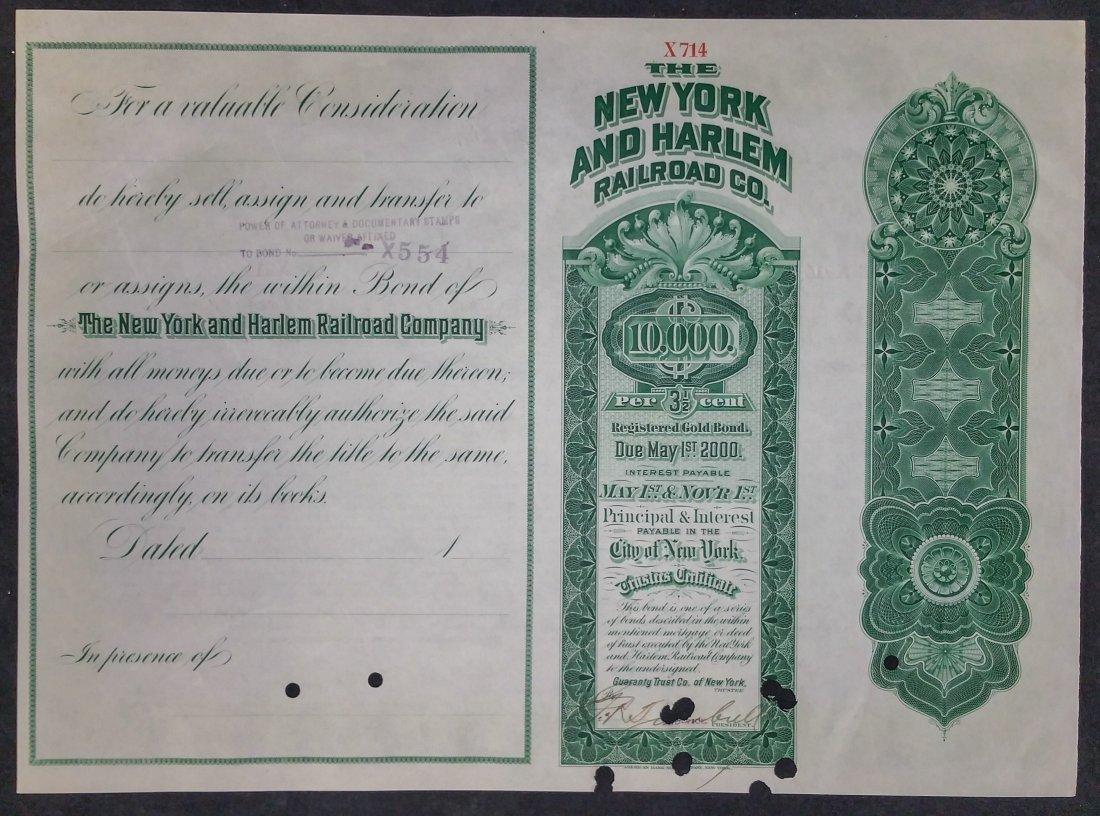 Bond Certificate Vanderbilt Railroad 1900 - 3