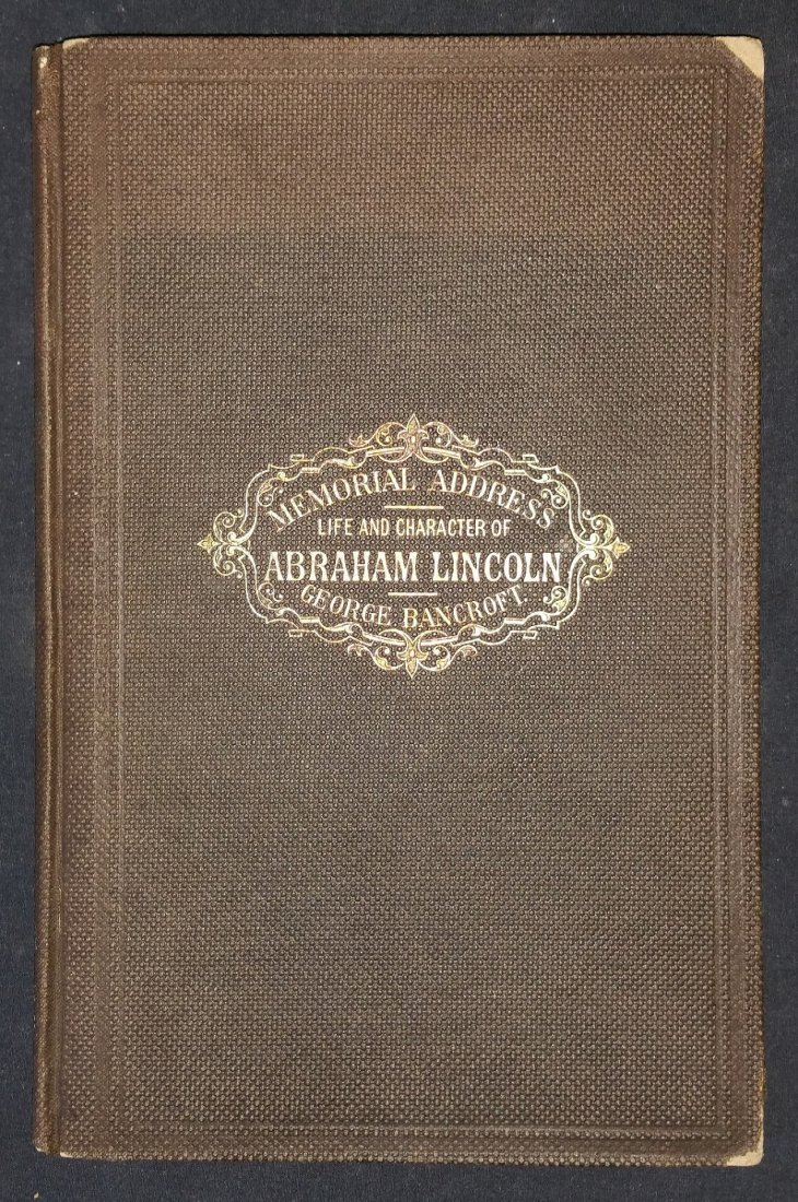 1866 1st Edition: Memorial Address Abraham Lincoln
