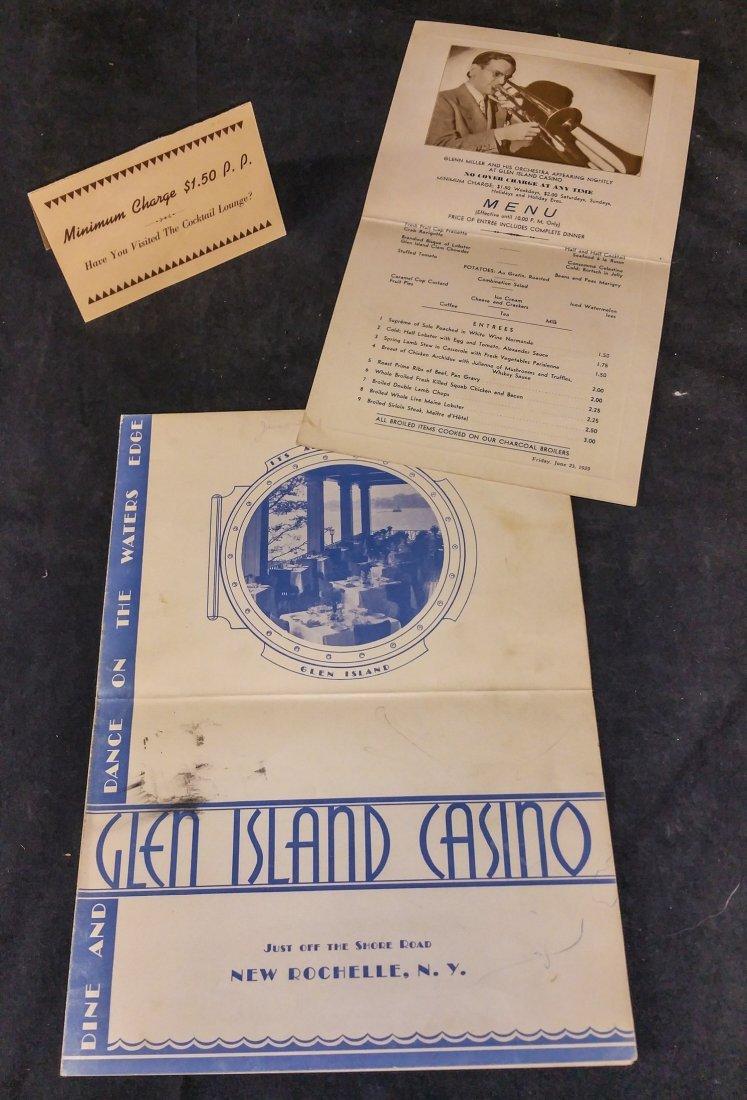GLEN MILLER – GLEN ISLAND CASINO – SIGNED 1939 DATED