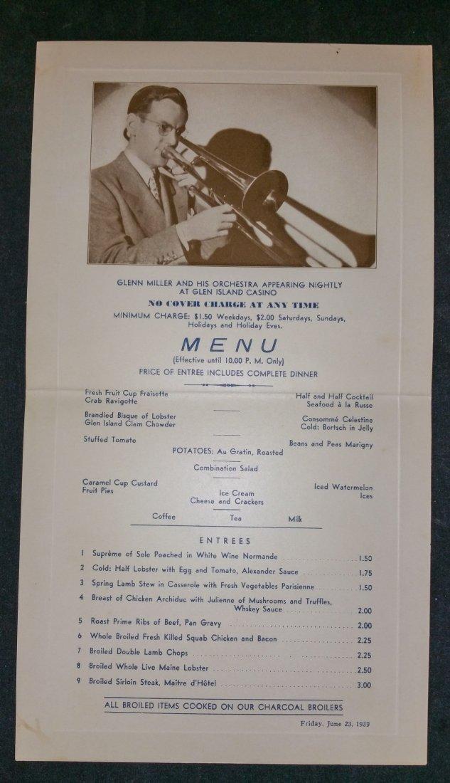 GLEN MILLER – GLEN ISLAND CASINO – SIGNED 1939 DATED - 4