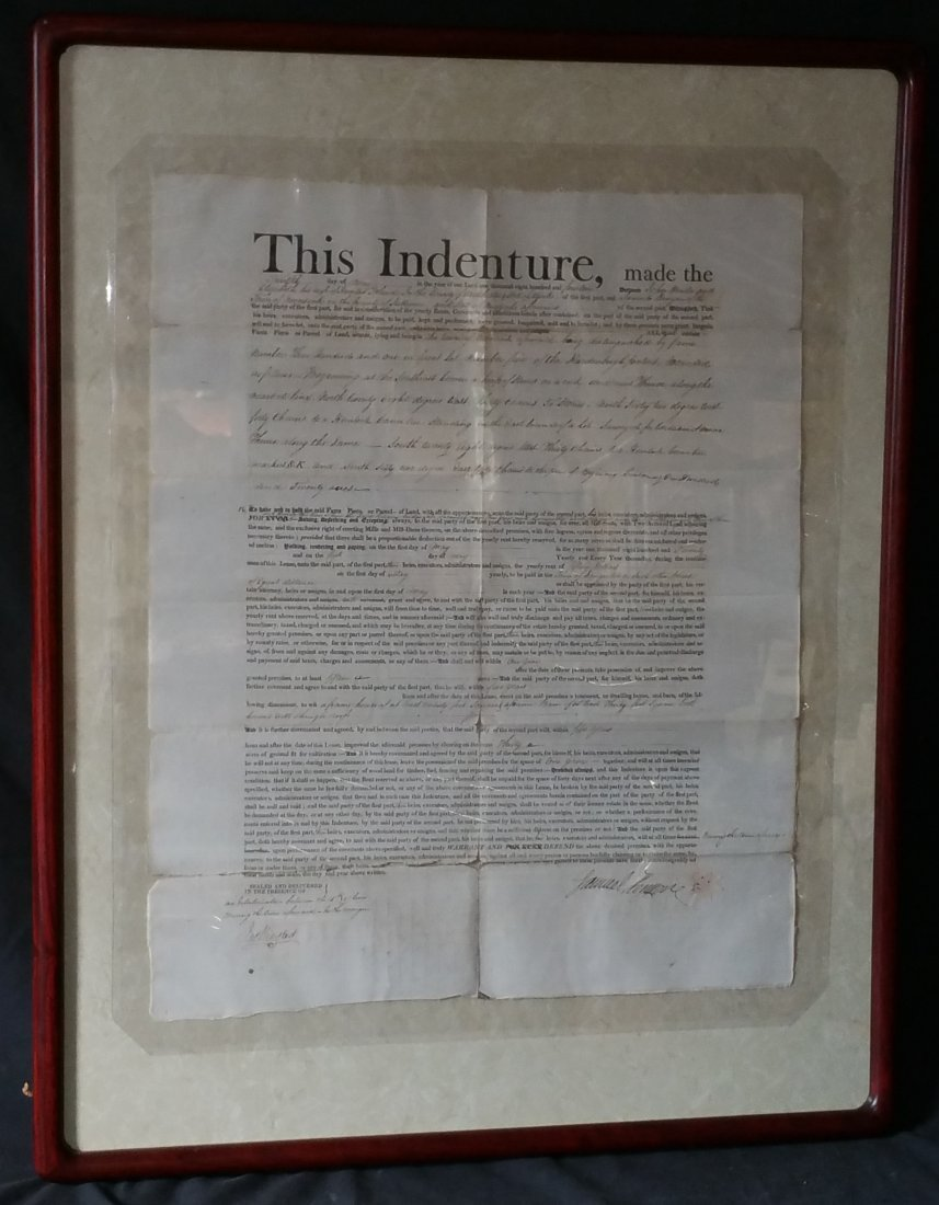 1814 Indenture Document  NY - Hunter