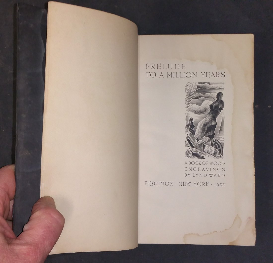 Prelude to a Million Years  Wood Engravings Signed