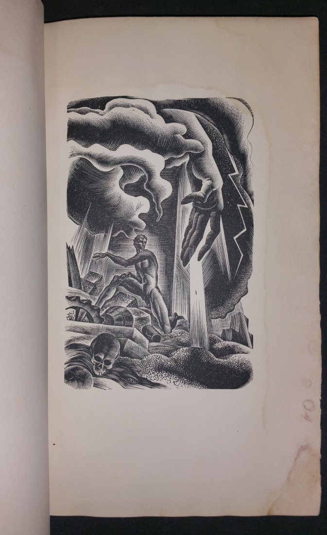 Prelude to a Million Years  Wood Engravings Signed - 3