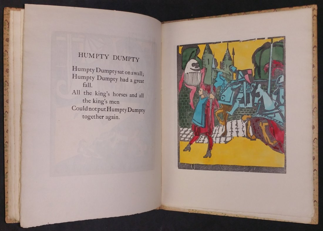 Limited Edition Signed Nursery Rhymes with Woodcuts - 5