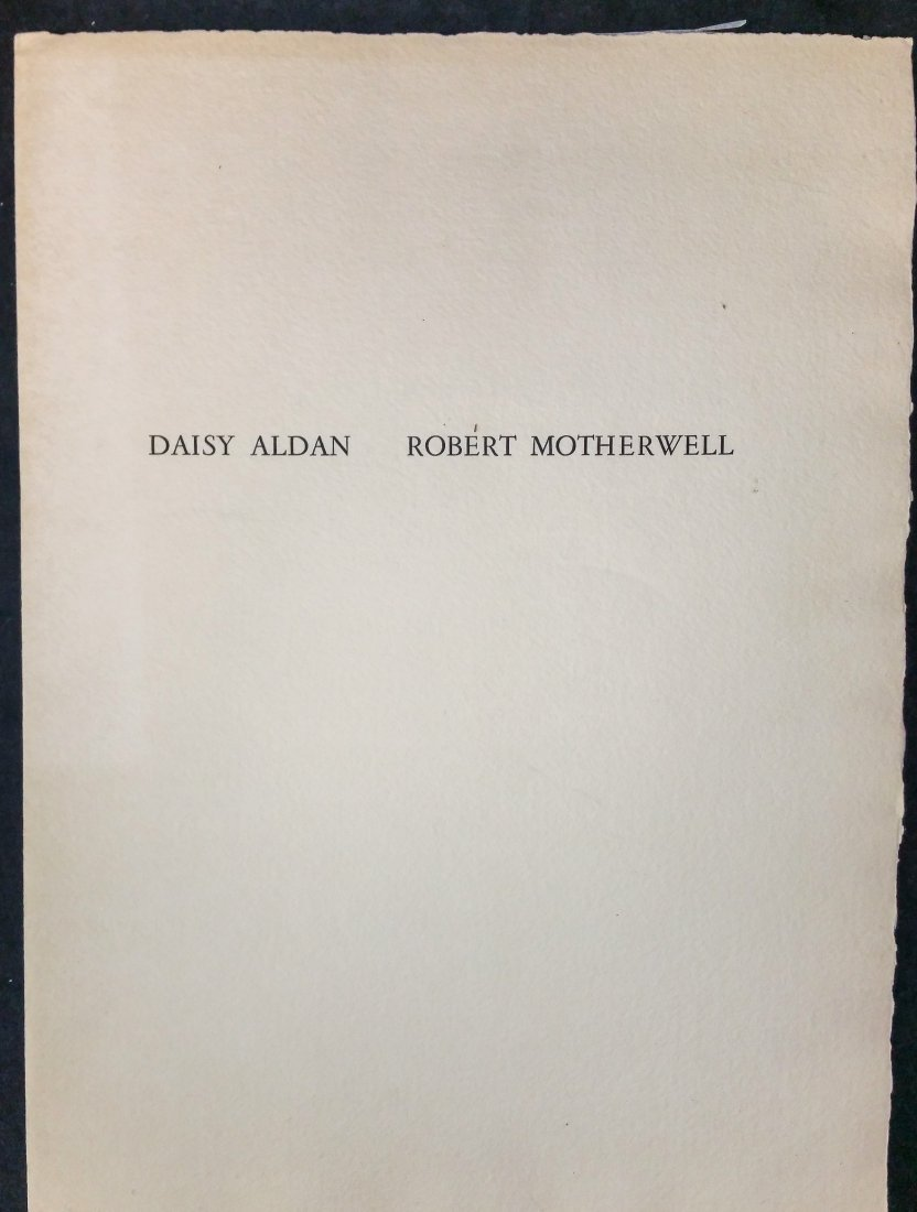 Daisy Alden and Robert Motherwell  Painted Words 1967