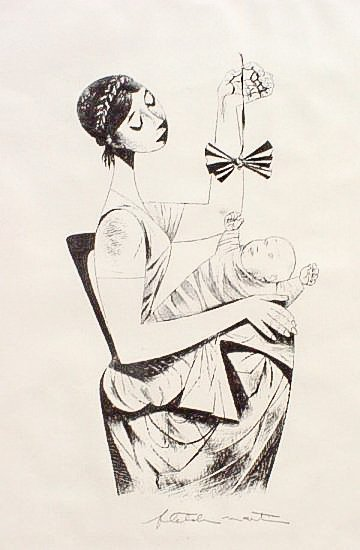 Fletcher Martin (1904-1979) Mother and Child