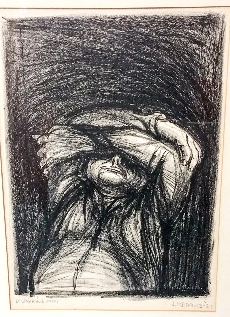 James Kearns, American (b. 1924), Despairing Man, 1961