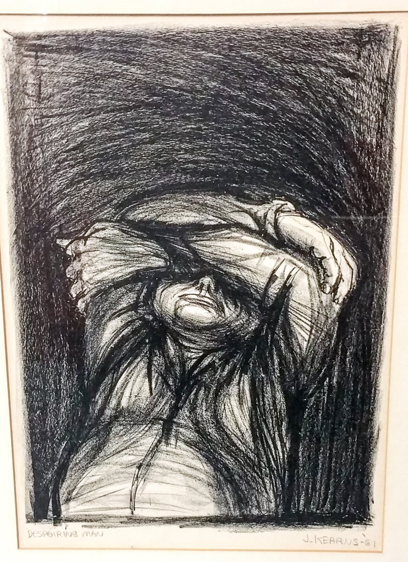 James Kearns (b. 1924), Despairing Man, 1961  COA