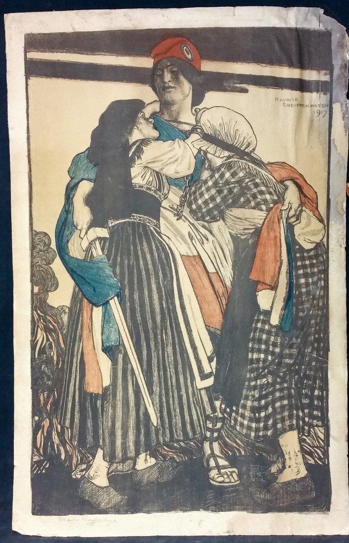 1917 Signed M. Griffenhagen Original Poster