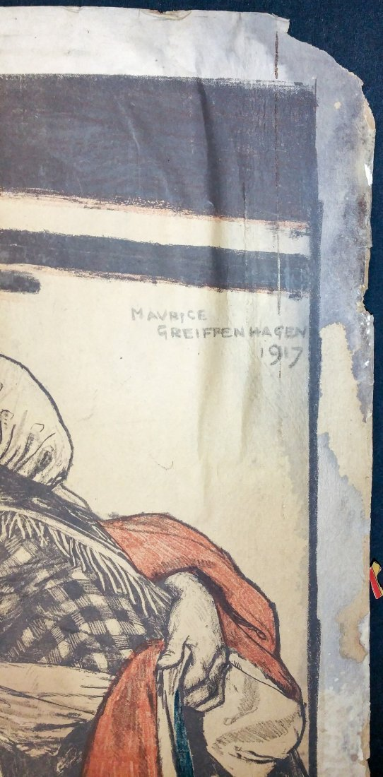1917 Signed M. Griffenhagen Original Poster - 2