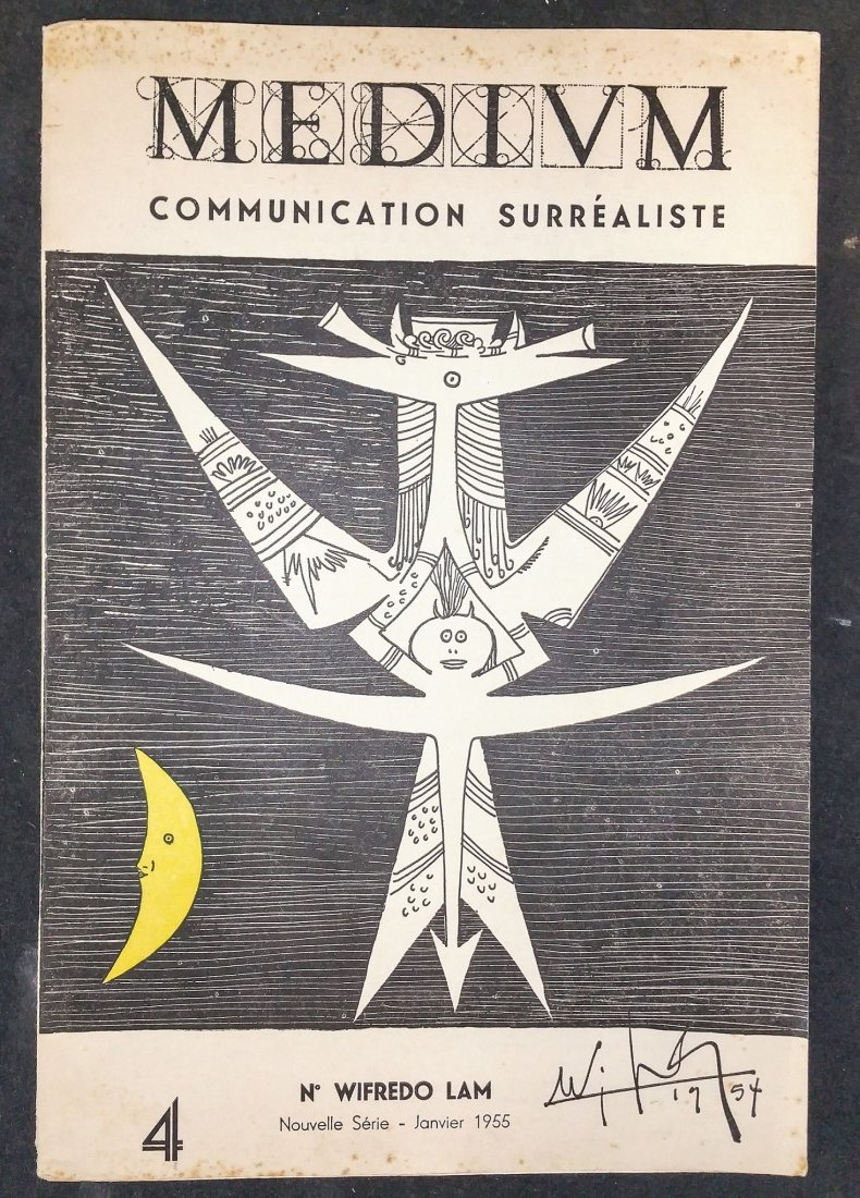 Surrealiste 1955 Signed, Wifredo Lam, Edvard Munch