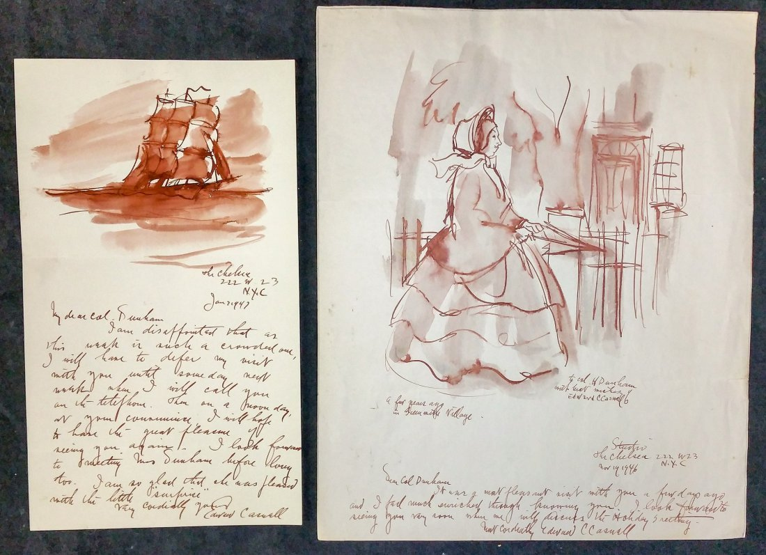 Artist Correspondence with Original Art Edward Caswell