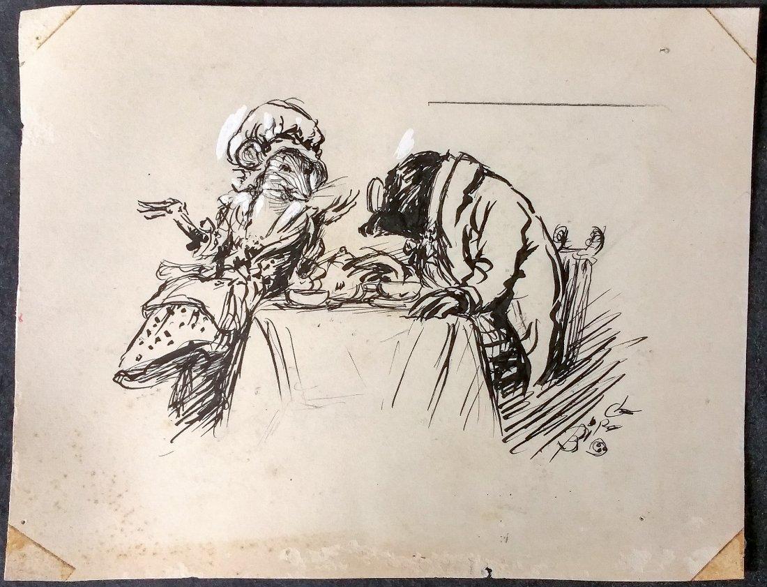 Original Vintage Illustration , Artist Signed