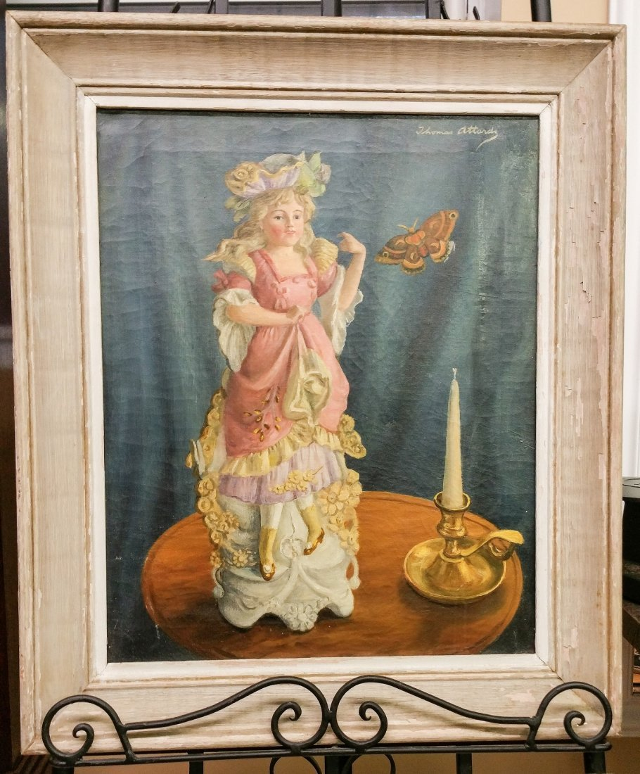 Vintage Oil on Canvas by Thomas Hardy