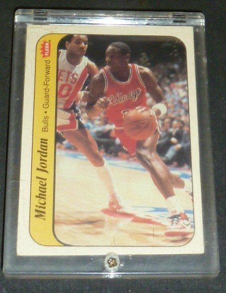 Michael Jordan Rookie Sticker Card