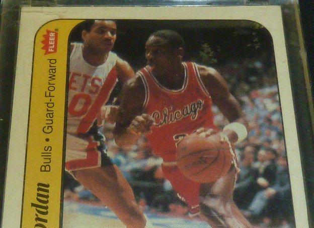 Michael Jordan Rookie Sticker Card - 2