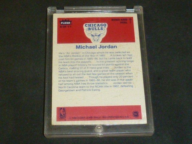 Michael Jordan Rookie Sticker Card - 4
