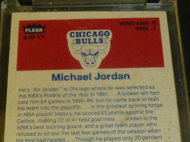 Michael Jordan Rookie Sticker Card - 5