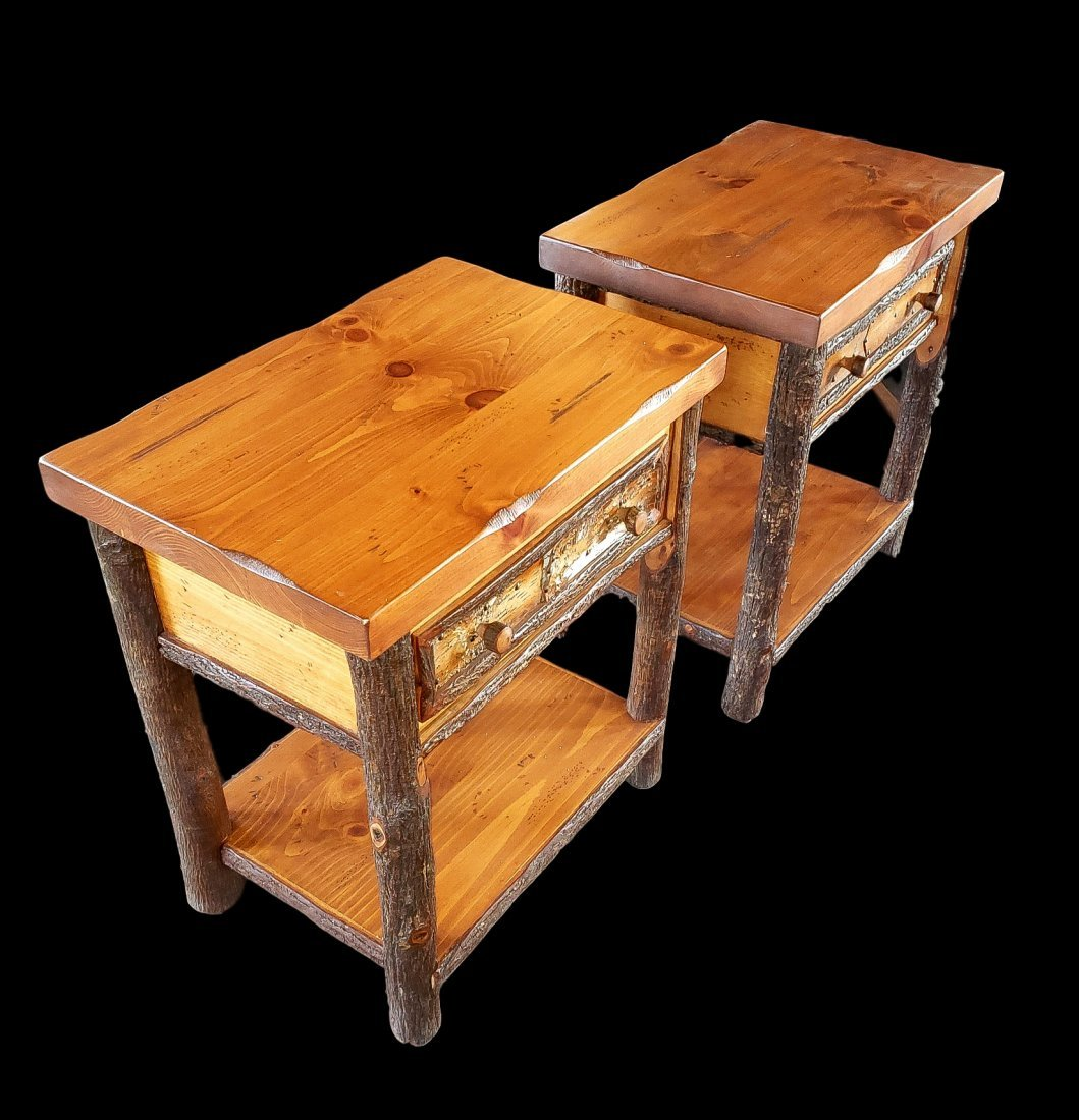 Pair of Old Hickory Old Faithful Nightstands