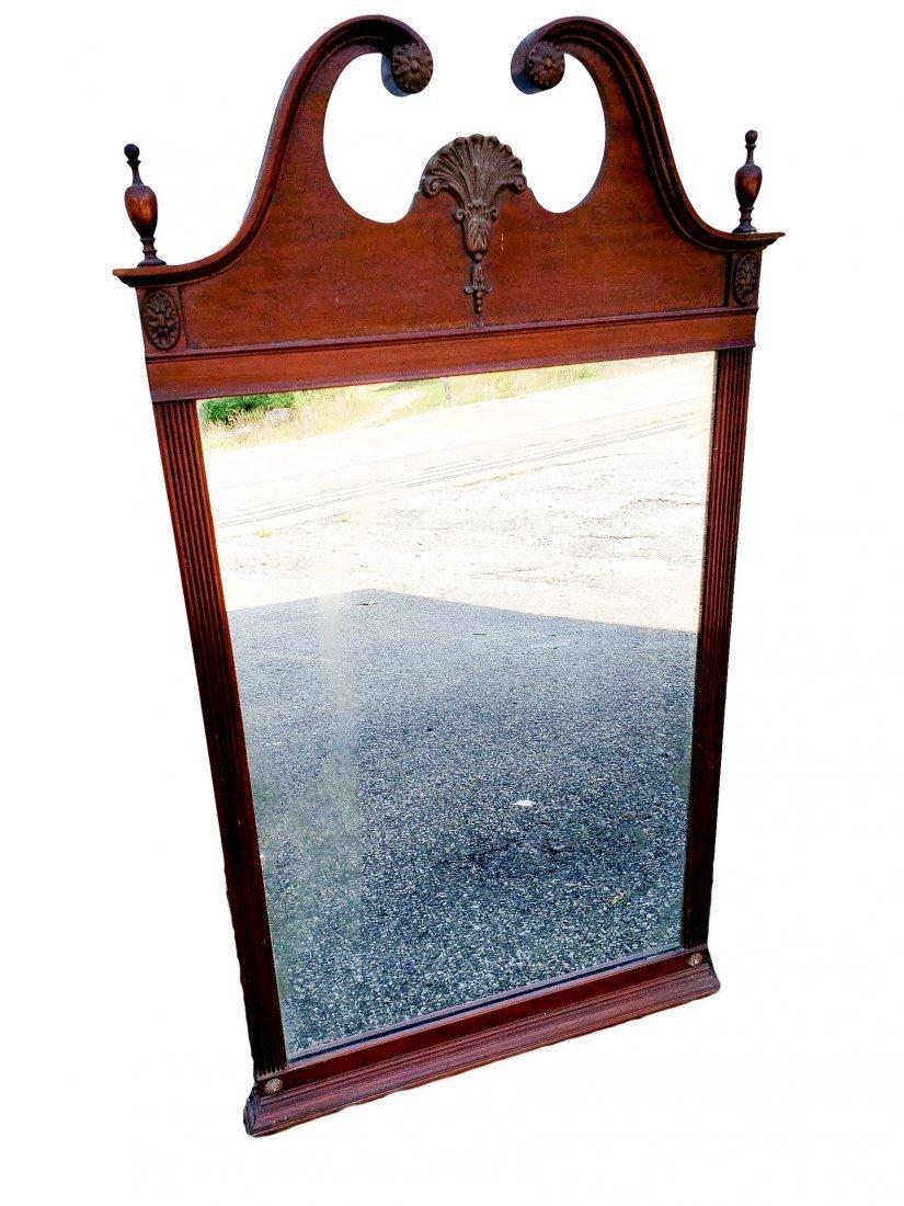 Mayflower Colonial - Wall Mirror Circa 19th Century