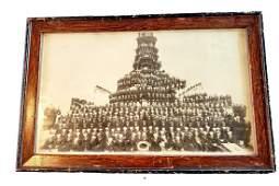 VERY RARE - Silver Gel Photo of the USS Kentucky Circa