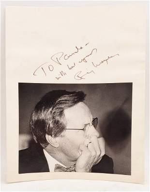 Bill Moyers: Signed Photo Portrait