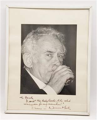 Norman Mailer: Framed Signed Photo Portrait