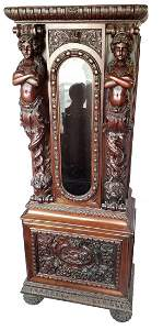 """""""The Mermaid"""" clock case by R.J. Horner : Partial Case"""
