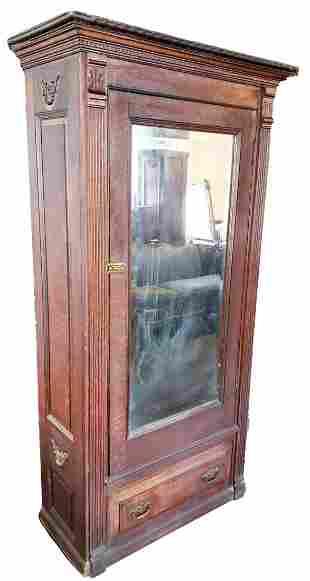 Neo Clasical Antique Wardrobe With Mirror