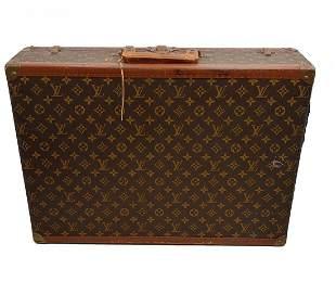 1950s Authentic Louis Vuitton Hard Side Suitcase