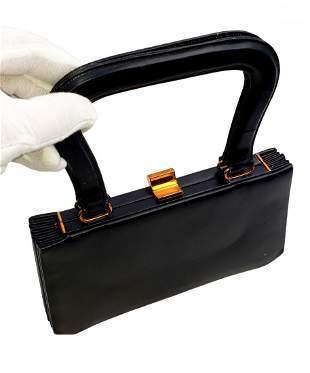 Vintage Artcraft Navy Leather Handbag