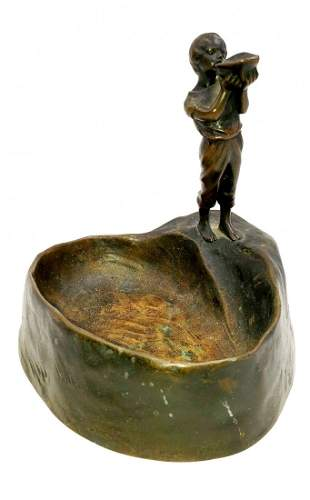 Bronze Poche Vide Signed Peter Tereszczuk (1875-1963)