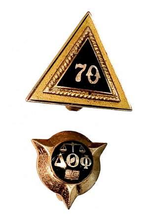 Gold Lapel Pins- Delta Theta Phi ; 70