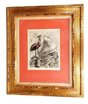Chagall  Le Heron  Early Framed Limited Lithograph