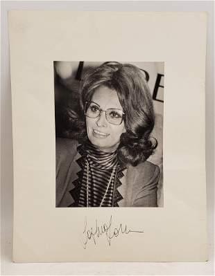 Sophia Loren : Signed Photo Portrait