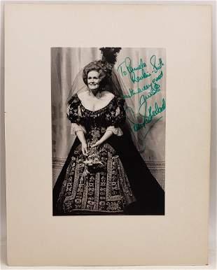 Joan Sutherland : Signed Photo Portrait