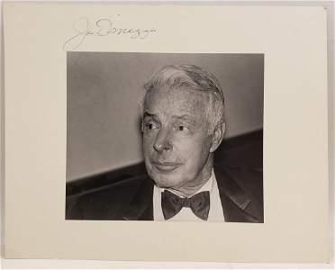 Joe DiMaggio : Signed Photo Portrait
