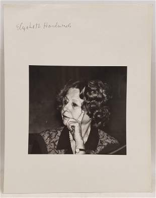 Elizabeth Hardwick : Signed Photo Portrait