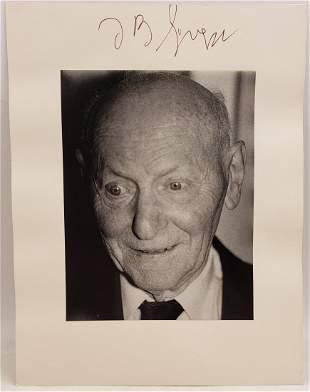 Isaac B Singer, 1986 : Signed Photo Portrait
